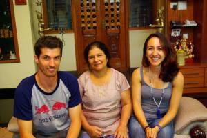 Chez Saraswati Jois, mai 2014.